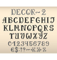 Vintage decorative english alphabet vector image