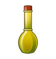 virgin olive oil bottle icon cartoon style vector image