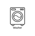 washer simple line icon washing ma hine thin vector image