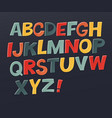 comic colorful alphabet set comic text comics vector image