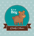 baby shower card invitation its a boy with cute vector image