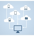 Concept of cloud storage vector image