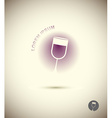 Logo wine glass Concept icon for sommeliers wine vector image