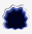 3d abstract paper cut blue background vector image