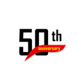 50th anniversary abstract logo fifty happy vector image vector image