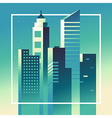 abstract city landscape in bright gradient colors vector image vector image