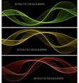 Abstract colored wave on black vector image