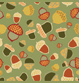 acorn woodland seamless repeat pattern design vector image vector image