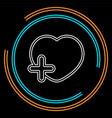 add lover symbol - flat icon - add heart vector image