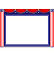 american holiday frame background vector image vector image