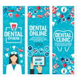 banners for dental health clinic vector image vector image