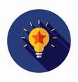 best idea icon star icon light bulb icon vector image vector image