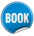 book round blue sticker isolated on white vector image vector image