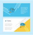 brain circuit abstract corporate business banner vector image vector image