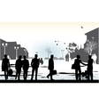 business people in city vector image