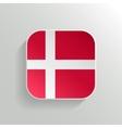 Button - Denmark Flag Icon vector image vector image