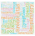 cause of bronchitis text background wordcloud vector image vector image