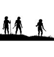 Cavemen hunters vector image vector image
