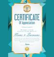 certificate retro design template 39 vector image vector image