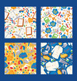 chemistry seamless pattern chemical science vector image