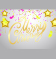 christmas xmas holiday lettering design party vector image vector image