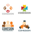 cohesion logo set flat style vector image vector image