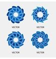 Collection of logo design templates and vector image vector image