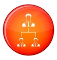 Company structure icon flat style vector image vector image