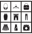 Concept flat icons in black and white women vector image vector image