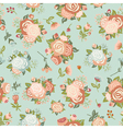 Cute seamless pattern with decorative rosettes vector image