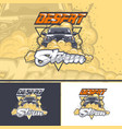 desert storm with an off-road car in three vector image vector image