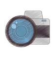 drawing photo camera picture vacation travel vector image