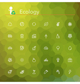 Ecology Line Icons vector image vector image