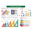 Education infographic placard template vector image vector image