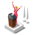 Election Infographic Party Rally Isometric People vector image vector image