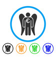 euro angel investor rounded icon vector image vector image