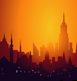Evening City Skyline vector image vector image