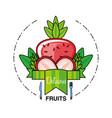 fresh strawberries fruit isolated icon vector image