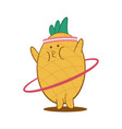 funny fruit working out fitness character vector image vector image