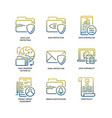 general data protection regulation gdpr icons vector image