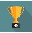 Gold Trophy Cup Winner vector image vector image