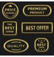 Golden labels vector image vector image