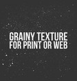 grainy texture for print or web vector image vector image