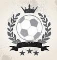 Grunge Soccer laurel weath vector image vector image