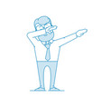 happy man doing a dub dance move character - a man vector image vector image
