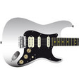 hard tail guitar vector image vector image