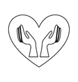Healthy heart symbol isolated icon design vector image vector image
