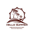 hello summer logo design vector image