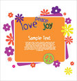 hippie love illustration vector image vector image