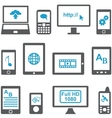 Icons set computers and mobile devices vector image vector image